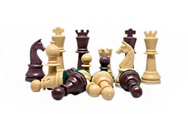 Πιόνια για σκάκι πλαστικά Μπέζ-Καφέ 70mm* με τσόχα – Patriotaki.de